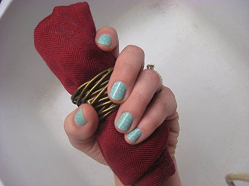 Jamberry Nails - Teal Mini Polka  +Bonus Accent Sheet