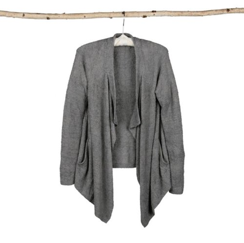 Barefoot Dreams Bamboo Chic Lite One Mile Cardigan (Pewter, X-Small / Small) by Barefoot Dreams