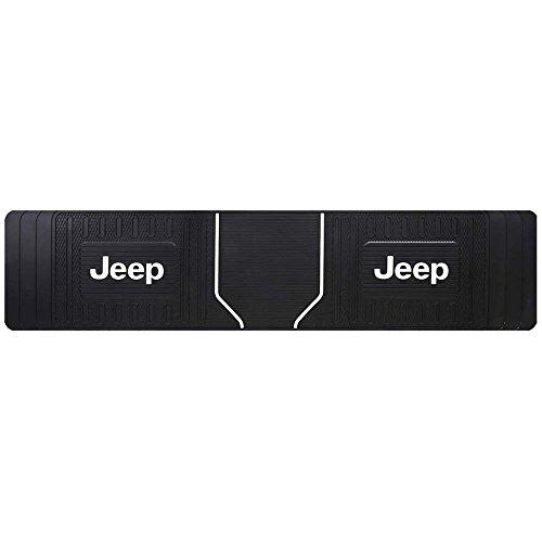 (1 Jeep Elite Style Original Black Heavy Duty Rear Runner Rubber Floor Mat)