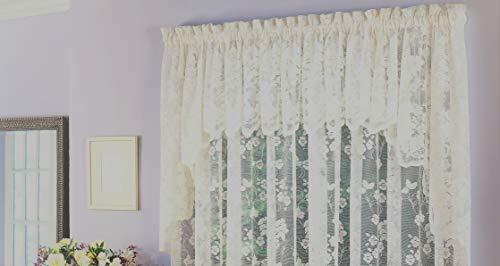 (Ben & Jonah Traditional Elegance Floral Vine Sheer Jacquard Lace European Swag (60