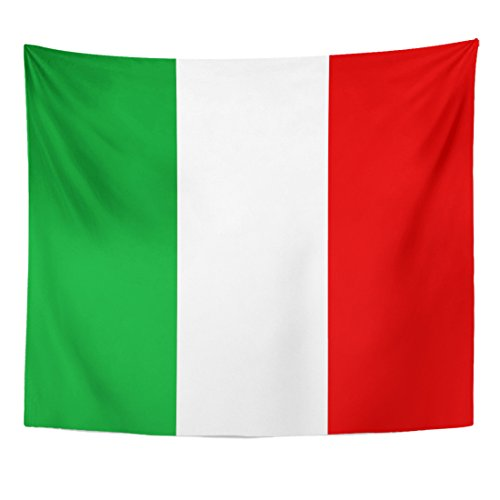 - VaryHome Tapestry Green Italian Italy Flag Official Colors and Proportion Correctly National of Italyan Red Celebration Home Decor Wall Hanging for Living Room Bedroom Dorm 50x60 Inches