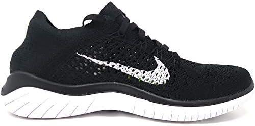 Nike Womens Free RN Flyknit 2018 Running Shoes (9.5 B(M) US) Black/White 2