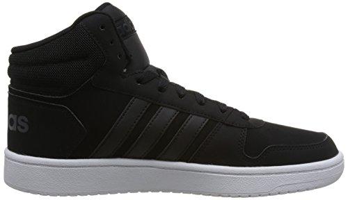 Baskets 0 Pour Mid Carbone Montantes 2 noires Hoops 0 Adidas Noires Hommes qaEwIA1