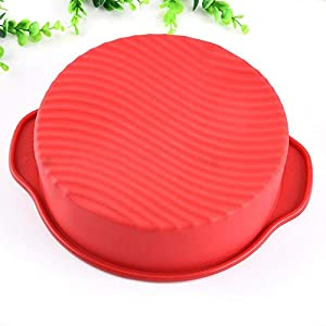 1 piece GENNISSY DlY 28.5256.5cm Round Shape 3D Silicone Cake Mold Baking Tools Bakeware Maker Mold Tray Baking
