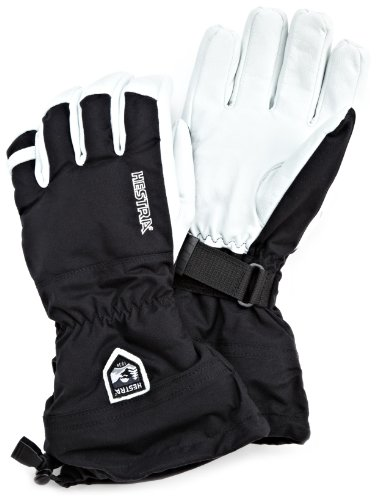 Hestra Army Leather Heli Ski and Ride Glove with Gauntlet,Black,7 by Hestra
