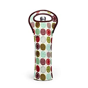 BUILT NY Neoprene Wine/Water Bottle Tote, Peppermint Jubilee