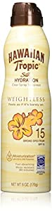 Hawaiian Tropic Sunscreen Silk Hydration Moisturizing Broad Spectrum Sun Care Sunscreen Spray - SPF, 6 Ounce