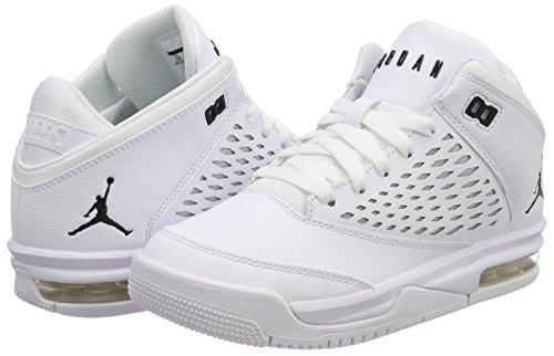 Nike Jungen Jordan Flight Orgin 4 (GS) Basketballschuhe Elfenbein (Whiteblack 100)
