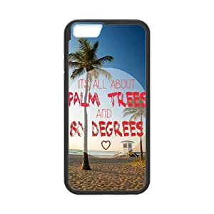 DIY Palm Tree Sand Iphone6 Plus Cover Case, Palm Tree Sand Personalized Phone Case for iPhone 6 plus 5.5