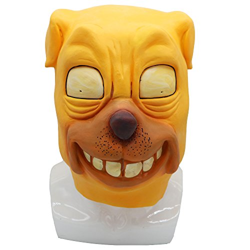Adventure Time Jake The Dog Mask Animal Latex Helmet Cosplay Halloween Prop -
