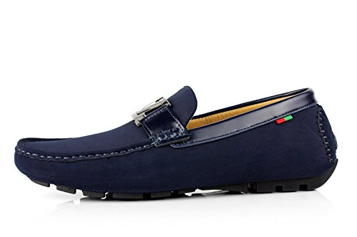Casual Fashion Italiana Conduttore Slip JAS Designer Navy Moccassini Uomo On Mocassini Ganasce BnfR0