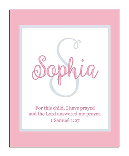 Girls Bible Verse Paper Art Print | Girl Monogram | Baby Girl Gift | Personalized Baptism Gift | Christening Gift | Religious Gift | Christening Present | Baptism Present | First Communion -