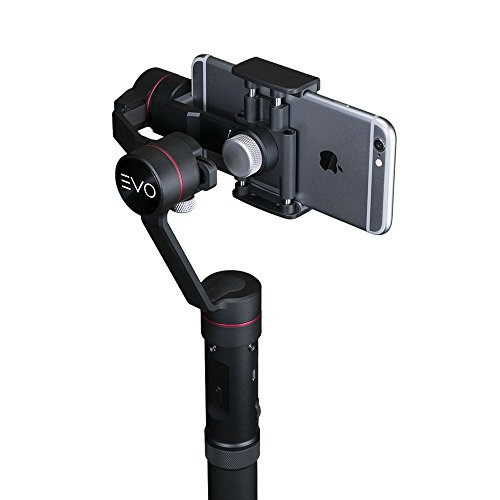 EVO SP-PRO Gen2 3 Axis iPhone Gimbal Stabilizer works with iOS & Android Smartphones, Advanced EVO Camera APP + 1 Year USA Warranty