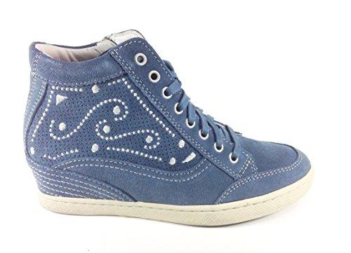 Trivict - Zapatos de cordones de Piel para mujer Azul azul Azul