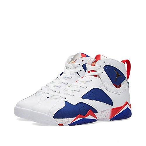 Jordan Air 7 Retro BG Olympic Tinker Alternate Big Kid's Shoes White/Deep Royal Blue/Fire Red/Metallic Gold Coin 304774-123 (7 M US)