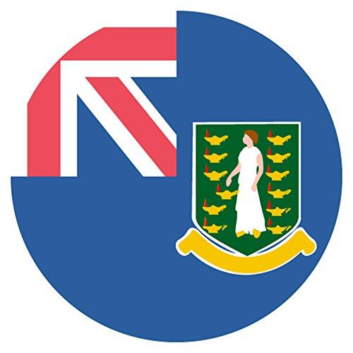 Flag for Virgin Islands, British Emoji Metal (White Flag Virgin Islands)