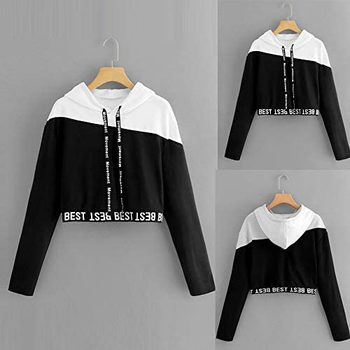 Comcialist Women Pullover Sweatshirt Fashion Letter Print Casual Wild Style Blouse