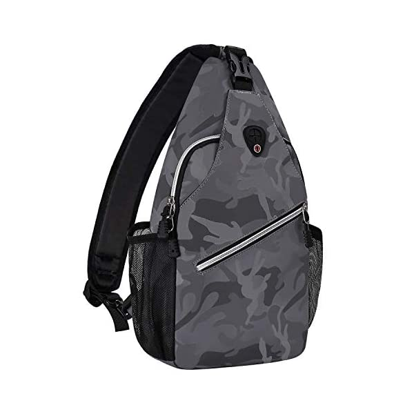 Brown Camouflage MOSISO 13 inch Sling Backpack Hiking Daypack Pattern Outdoor One Shoulder Bag