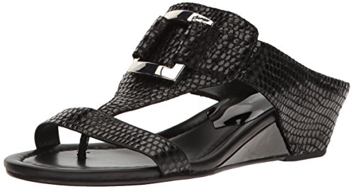 Donald J Pliner Women's Daun Wedge Sandal, Black, 6 M US ()