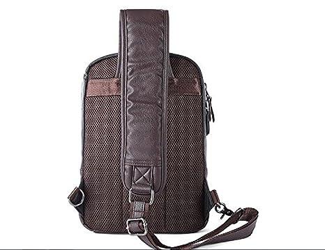 Daily Use School 21cm13cm34cm Shoulder Bag Mens Messenger Bag Waterproof PU Leather for Sport