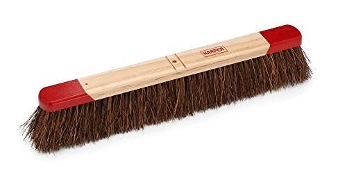 Harper Brush 712412 Broom Head, Palmyra Fiber, Outdoor, Rough Wet or Dry Surface, Maple, 24'' (Pack of 12) by Harper Brush