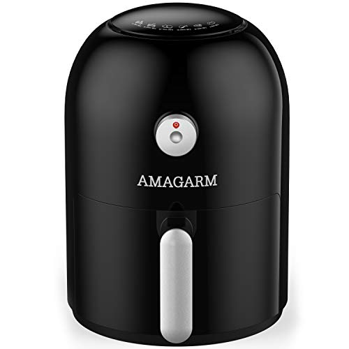 [LATEST 2020] USA Patented Design, AMAGARM Compact Constant Temperature Air Fryer and Cookbook, Electric Small Mini Air Fryers Oven Cooker Non Stick Fry Basket
