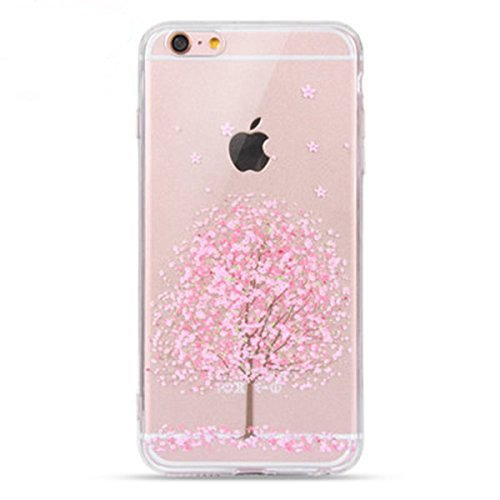 Price comparison product image iPhone 6s Plus Case, Geekmart Clear Soft Floral Silicone Back Cover for 5.5 inches iPhone 6 Plus/iPhone 6s Plus