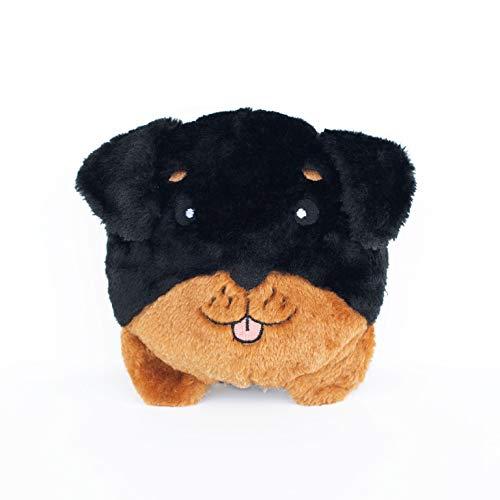 - ZippyPaws - Bun Matching Dog Breed Plush Pillow Dog Toy - Rottweiler