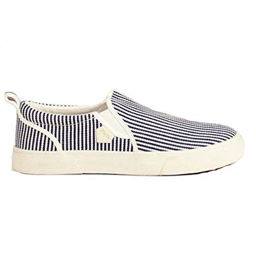 weiss gestreift Zapatos blau para de cordones Aigle mujer fFUZwq
