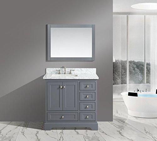 UrbanFurnishing net Jocelyn 36 Inch Bathroom Charcoal