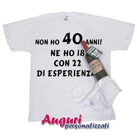 Bombo T Shirt In Bottiglia Compleanno Non Ho 40 Anni