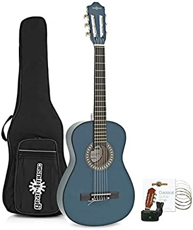 Paquete de Guitarra Espanola Junior de 1/2 de Gear4music Blue ...