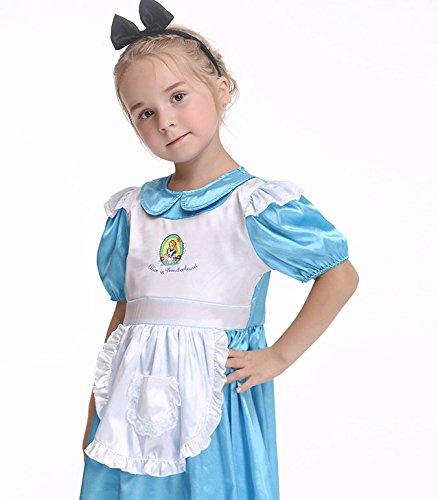 Enfants Artificielle Robe Les tête Mignon Cosplay Serre Fête En Pour Costume Avec Soie Noël blanc Acvip Toussaint Bleu qw0ZpC0