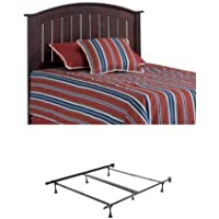 Finley Wooden Headboard Panel with frames, Merlot Finish, Full / Queen