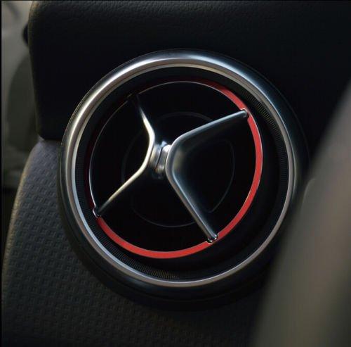High Flying Metal Rouge Int/érieur Climatisation Vent Outlet Bague Coque Trim 5/pcs pour accessoire Auto Bzgla