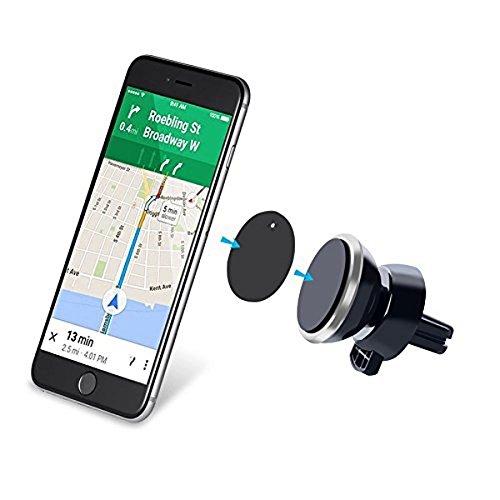 Soporte para Auto Universal AIRE ACONDICIONADO - IMAN MAGNETICO 2 en 1, 360°para SmartPhone, Iphone, Samsung, LG