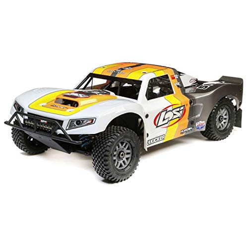 Losi 5Ive-T 2.0 1/5 Scale 4WD RC Short Course Truck Gas Powered BND with 6-CH Dsmr Telemetry Rx (Transmitter, Rx Battery, Charger, Fuel Not Included), LOS05014T2 - 1/5 Gas Scale Buggy