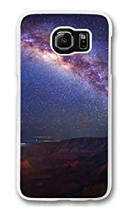 Bright night sky Polycarbonate Hard Case Cover for Samsung S6/Samsung Galaxy S6 Transparent