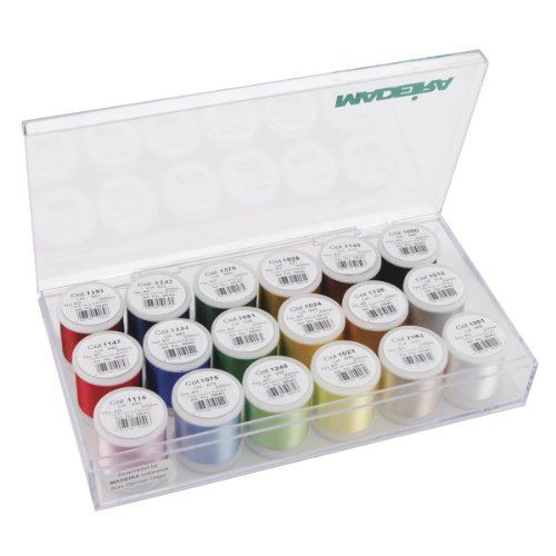 Madeira 8040 | Assorted Viscose Rayon 40 Machine Embroidery Thread | 200m x 18