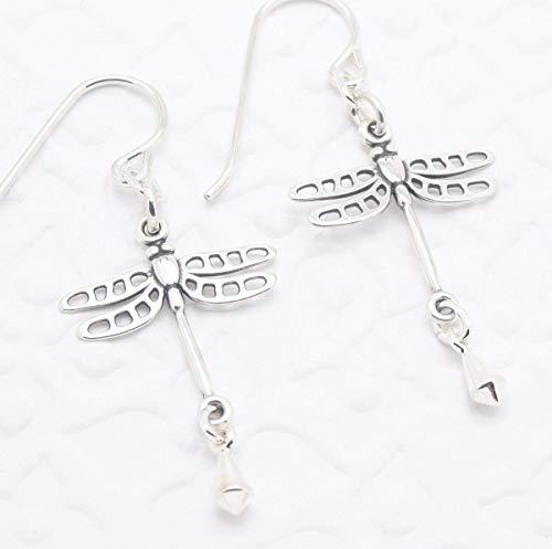 Silver Dragonfly Earring - Dragonfly Earrings in Sterling Silver