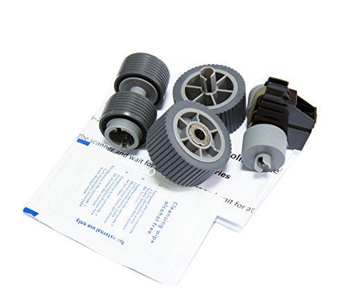 Yanzeo PA03740-K010 PA03740-K011 for Fi-7600 Fi-7700 Fi-7700S Scanner Brake Roller Pick Roller Set (Brake Roller)