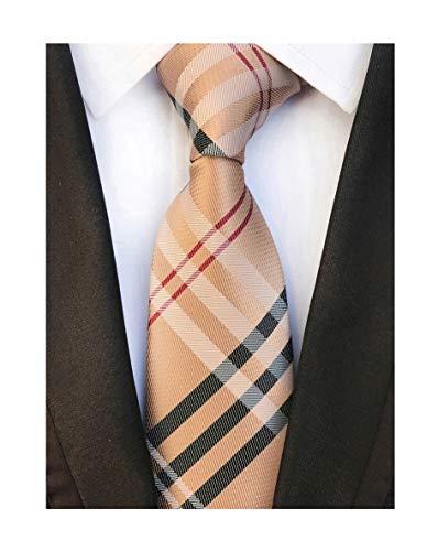 Men's Brown Red Black Woven Casual Preppy Stylish Tie Necktie Presents Gift Idea