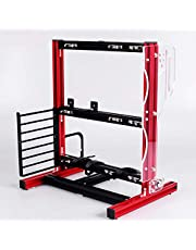 DIY Computer Motherboard Case Rack, Motherboard Chassis Set, Creative Personality ATX/M-ATX/ITX Open Chassis, Vertical Overclocking Open Aluminum Frame Chassis Rack,Good Heat Dissipation(Red)