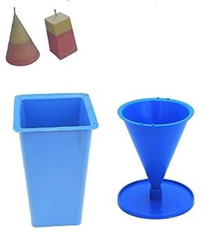 Proops – Juego de 2 moldes para velas, rectangular cuadrado con parte superior vela molde