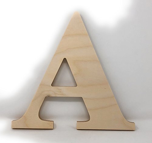Gocutouts 10quot Wooden A Unfinished Wooden Letters Paint Ready Wall Decor Times A 10quot A