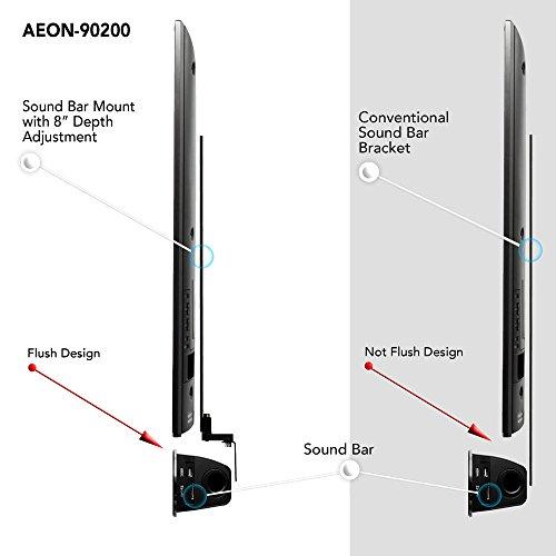 soundbar speaker mount with depth adjustments for tv wall import it all. Black Bedroom Furniture Sets. Home Design Ideas