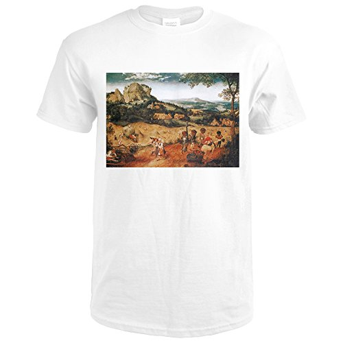 The Hay Harvest - Masterpiece Classic - artist: Pieter Bruegel The Elder c. 1565 (Premium White T-Shirt - Hay Harvest
