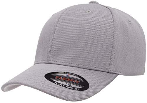 Flexfit Men's Cool & Dry Sport, Silver, Small/Medium