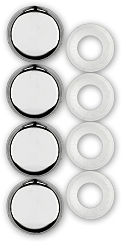 - Cruiser Accessories 82630 License Plate Frame Fastener Caps, Chrome