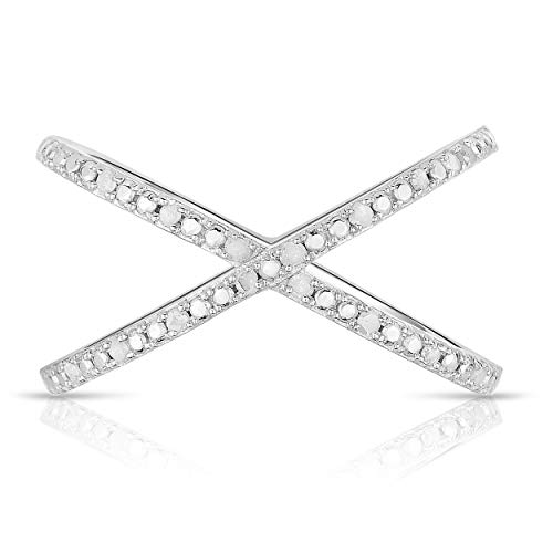 NATALIA DRAKE 1/10cttw Open Criss Cross Ring in Sterling Silver (SZ 7) ()